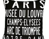 PARIS Landmarks- Eco-friendly Destination Pillow