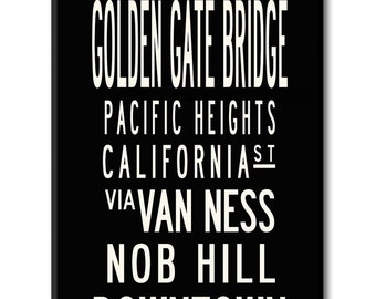 SALE-SAN FRANCISCO,  Overstock sale- 24x60 Gallery-Wrapped Canvas Subway Art,-Ready to Ship