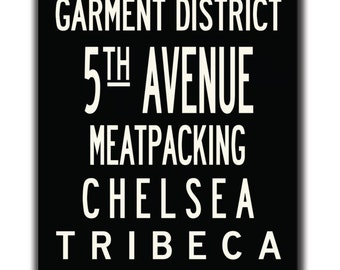 Union Square, Chelsea, Soho, Meatpacking- Subway Canvas Art, 24x60-Gallery-wrapped Canvas