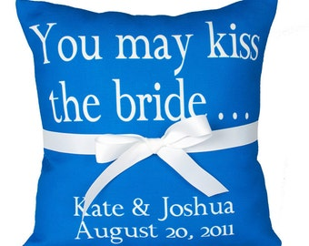 Custom, Personalized Ring-bearer's, bridesmaid,  wedding pillows- You Design it- Your words, font and color choice.