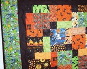 Halloween Lap Quilt or Throw  52 X 52  NOW ON SALE WAS 110.00