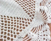 Off White 14 inch Doily   NOW ON SALE  WAS  17.50
