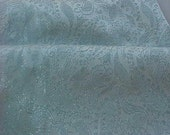 LIGHT BLUE BROCADE FABRIC W\/ SILVER SALE was 32.00 now 25.00
