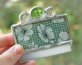 Grandma's Apron Green Pocket Mirror