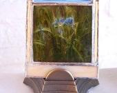 SALE Painted Iris Antique Magic Lantern Lamp