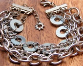 Chain Cuff Bracelet Multil Strand Hardware Jewelry Eco Friendly Gift under 20