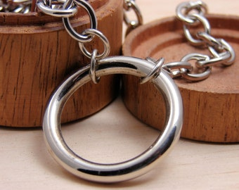 Circle Choker Necklace Hardware Jewelry Industrial Large Circle