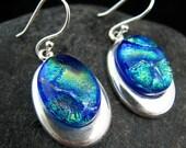 Coral Reef - Fused Glass Earrings