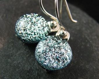 Fused Glass Earrings - Simply Silver - Ready to Ship