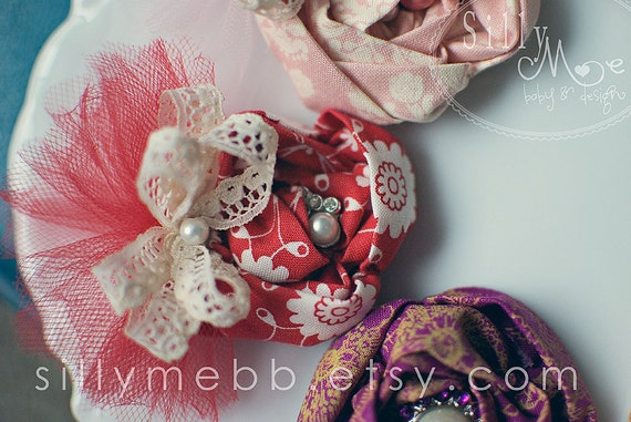 Red Pretty- Vintage inspired Clip or Headband