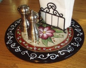 Hand Painted Lazy Susan - 15 inch