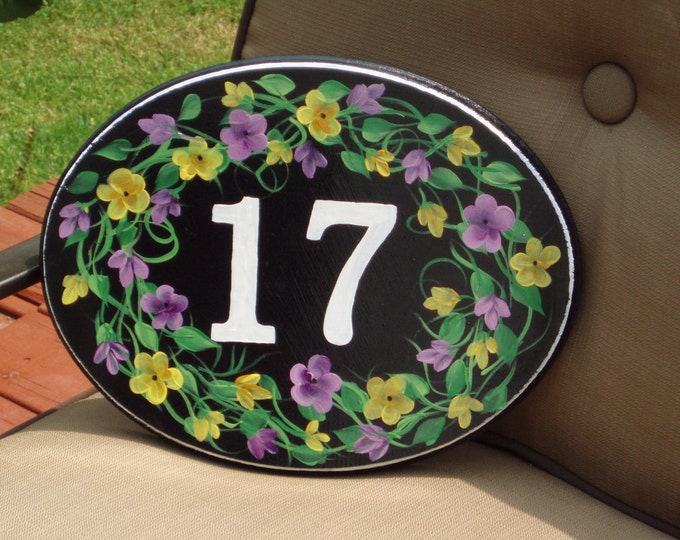 Hand Painted Custom Address Plaque