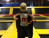 SUPERHERO personalized TANK or SHORT or long sleeved t shirt.  pick letter or number.  super cute. custom.
