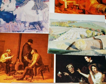Early American Art prints from vintage magazines 14 pieces