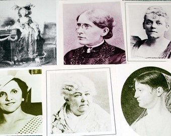 Ladies of History from vintage magazines 6 pieces