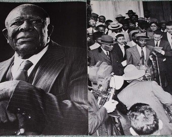Civil Rights Leaders prints from vintage magazines 2 pieces