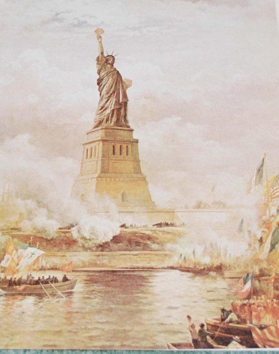 Statue of Liberty Vintage Ephemera 3 pieces
