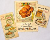 Three Breakfast Cereal Advertisement Pamphlets