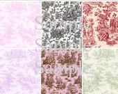 Shabby Toile Digital Collage Images
