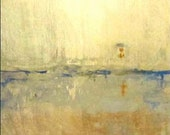 Custom Painting -- Original Landscape Abstract Painting with horizon, sunset and water