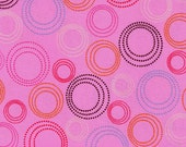 Pink Pop Circles Print 100% Cotton Quilting Fabric