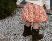 Daisy: Reversable Bubble Skirt....PDF Sewing Pattern and Tutorial....Size 6 Month- 4T