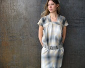plaid cocoon dress
