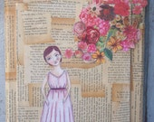 Her Dreams are Filled with Color... Original Mixed Media Art