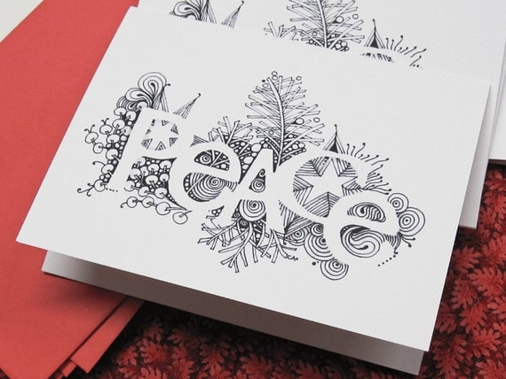 items similar to peace greeting cards on etsy