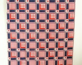 Victor Barda Paris Mid Century Fabric in Red White and Blue