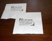 Cocktail Napkins Personalized 8 Fun Facts Qty 400
