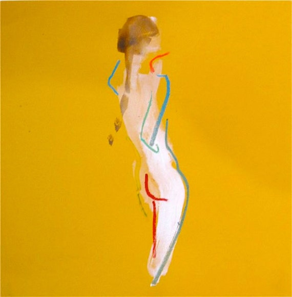 One minute pose CIII.1 - original painted sketch by Gretchen Kelly