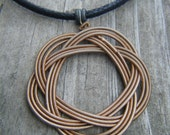 Guitar String Pendant, thin gold colored