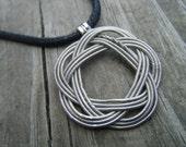 Guitar String Pendant, thin, silver color