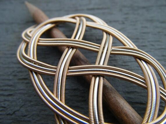 Silver Ribbon Guitar String Barrette