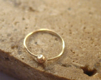 Gold Ball Nose Ring Super Thin - Nose Ring, Thin Gold Nose Ring, Thin Nose Ring, Delicate Nose Ring, Minimal Nose Ring, Fine Nose Ring, Gold