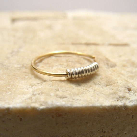 gold nose ring thin nose ring discreet nose by