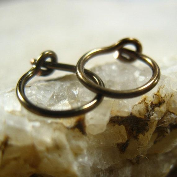Hoop Earrings Gunmetal - Mens Hoop Earrings, Active Hoops, Everyday Hoops, Sleeper Hoops, Huggie Hoops, Small Hoop Earrings, Tiny Hoop