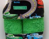 Kid's Hooded Towel -- New Disney's CARS Lightning McQueen, Mater, Doc