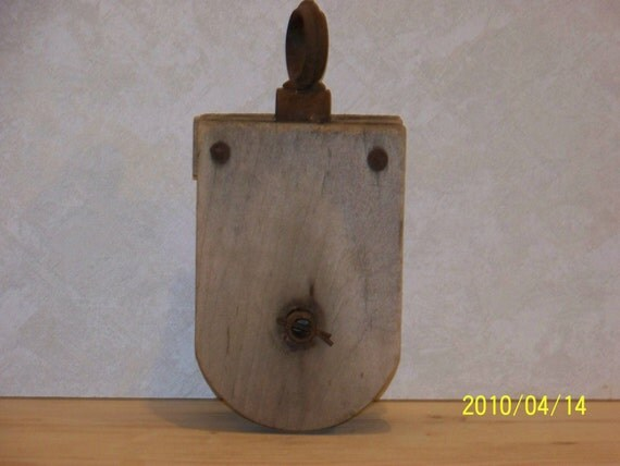 Antique Wooden Pully