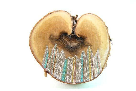 Heartbeat No. 1 / Painted Birch Heart by Amy Komar