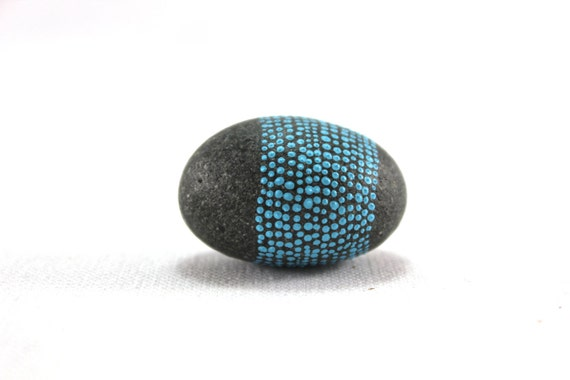 Robins egg / Alaska Series / Painted Stones by Amy Komar
