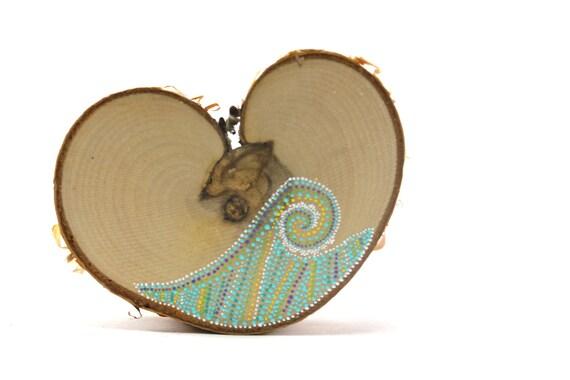Venus Transit Collection / Alaska Series / Painted Birch Heart by Amy Komar