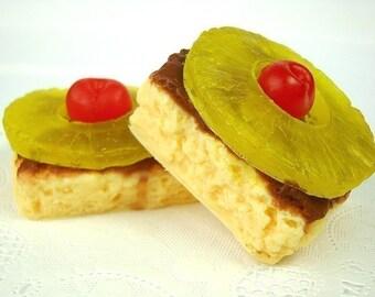 OVERSTOCK SALE 30% OFF - Pineapple Upsidedown Cake - Deluxe Soap Bar