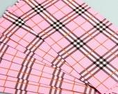 Pink Plaid Bags - 25 BAGS