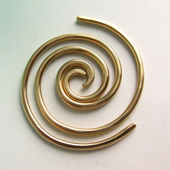 10 Gauge Earrings, 2.5mm Endless Hoops, Earrings For Stretched Piercings, Bronze Gauged Hoops, Gauged Earrings, 10 Gauge Spiral Hoops