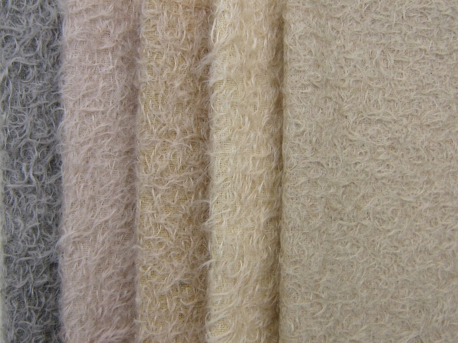 Mohair Fabric Kit With 5 Colors For A Chopper Bear