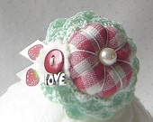 Sweet Strawberry Treasured Ring Pincushion