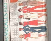 Vintage McCalls 5140 sewing pattern cut - complete