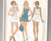 Vintage Simplicity 7491 sewing pattern cut - complete
